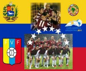 Puzle Seleção da Venezuela, do Grupo B, Argentina 2011