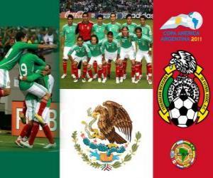 Puzle Selecção do México, Grupo C, Argentina 2011