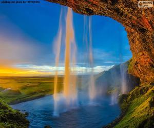 Puzle Seljalandsfoss, Islândia