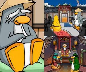 Puzle Sensei é um pingüim que vivem muito sábio no Dojo e os ensina a ser pingüins ninja