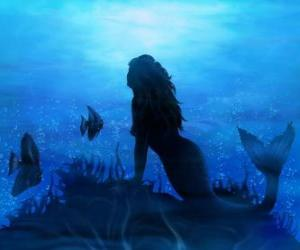 Puzle Sereia no fundo do mar