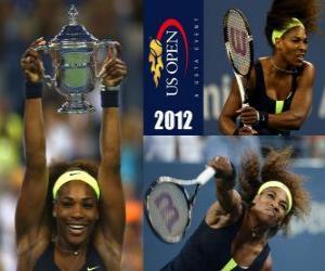 Puzle Serena Williams 2012 E.U. Open Champion