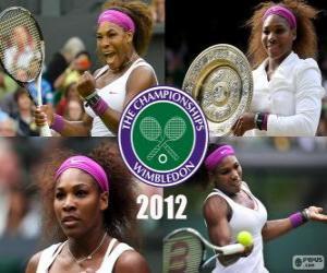 Puzle Serena Williams 2012 Wimbledon Campeão