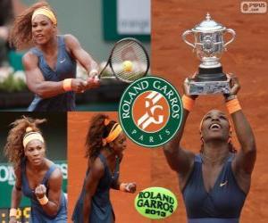 Puzle Serena Williams campeã de Roland Garros 2013