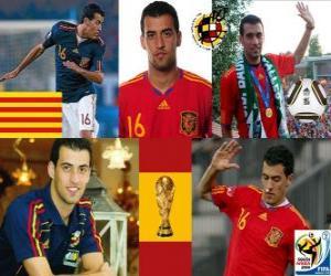 Puzle Sergio Busquets (polvo El Badia) meia da seleção espanhola