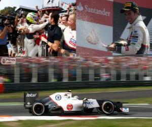 Puzle Sergio Pérez - Sauber - grande prémio de Itália 2012, 2º classificado