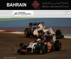 Puzle Sergio Perez - Force India - Grande Prêmio de Bahrain 2014, 3º classificado