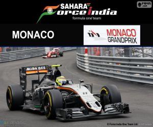 Puzle Sergio Perez, G.P de Mônaco 2016