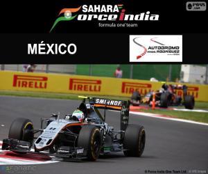 Puzle Sergio Perez, GP México de 2016
