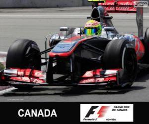 Puzle Sergio Perez - McLaren - Circuito Gilles Villeneuve, Montreal, 2013