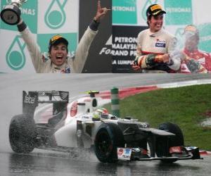 Puzle Sergio Perez - Sauber - Grande Prémio da Malásia (2012) (2º lugar)
