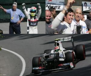 Puzle Sergio Perez - Sauber - grande prêmio do Canadá (2012) (3º lugar)