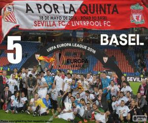 Puzle Sevilla, campeão Europa League 16