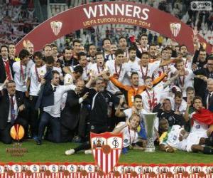 Puzle Sevilla FC, campeão UEFA Europa League 2013-2014