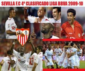 Puzle Sevilla FC quatro classificados da Liga BBVA 2009-2010
