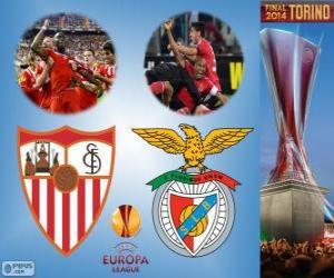 Puzle Sevilla vs Benfica. Europa League 2013-2014 Final, no Juventus Stadium, Turim, Itália