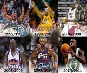 Puzle Shaquille O'Neal considerado o jogador mais dominante da história da NBA. Em 01 de junho de 2011 anunciou sua aposentadoria