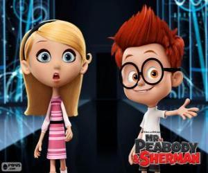 Puzle Sherman e Penny, dois colegas da escola