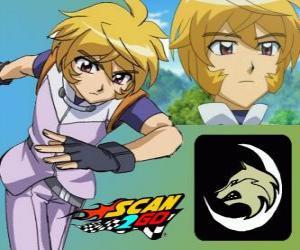 Puzle Shiro Shibakusa com o poder do lobo solitário de Scan2Go