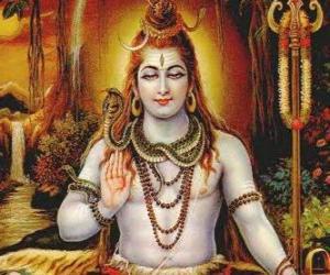 Puzle Shiva ou Xiva - Deus destruidor nel Trimurti, a trindade do hinduísmo