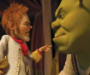 Puzle Shrek é levado através da assinatura de um pacto com o negociador afável Rumpelstiltskin