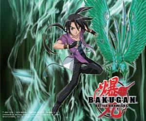 Puzle Shun e Ventus seu Bakugan
