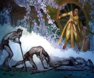 Puzle Sidarta Gautama e sua primeira visão de velhice