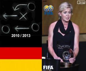 Puzle Silvia Neid treinador de futebol feminino da FIFA ano 2013