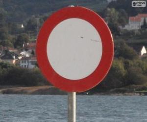 Puzle Sinal de Trânsito circulação proibida