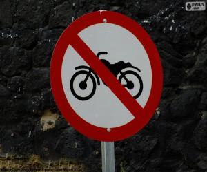 Puzle Sinal Proibido Motocicleta