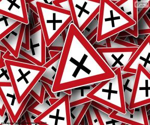 Puzle Sinalização de cruzamento