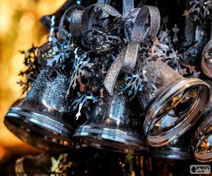 Puzle Sinos de Natal prata