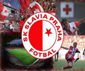 Puzle SK Slavia Praga, time de futebol tcheco