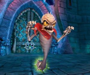 Puzle Skylander Ghost Roaster, uma criatura que come os maus espíritos. Skylanders Mortos vivos