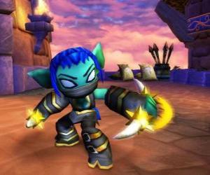 Puzle Skylander Stealth Elf, a guerreira ninja. Skylanders Vida