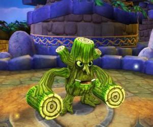 Puzle Skylander Stump Smash, a criatura martelo tem troncos em vez de braços. Skylanders Vida