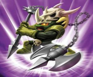 Puzle Skylander Voodood, bravo guerreiro. Skylanders Magia
