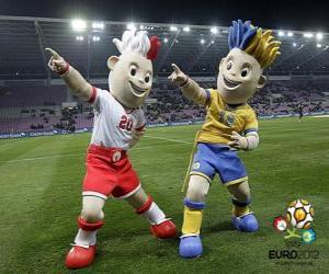 Puzle Slavek e Slavko - UEFA Euro 2012 -