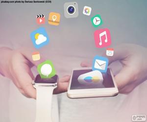Puzle SmartWatch e smartphone