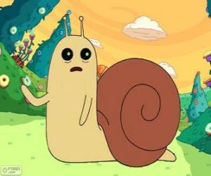 Puzle Snail o Caracol, o pequeno caracol de Hora de Aventura