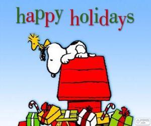 Puzle Snoopy de Natal