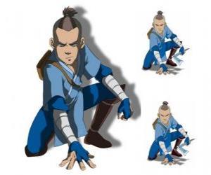 Puzle Sokka é um guerreiro de 15 anos da Tribo da Água do Sul que vai com Aang