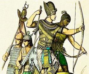 Puzle Soldado egípcio com um arco