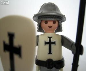Puzle Soldado medieval Playmobil