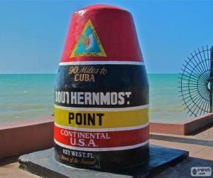 Puzle Southernmost Point, (Ponto mais meridional), Key West, Florida, Estados Unidos