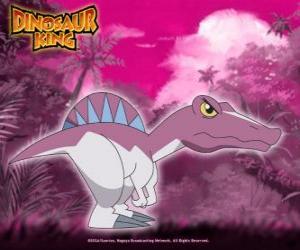 Puzle Spiny, Spino. Dinossauro Spinosaurus, possuído por Zander da Gangue Alpha