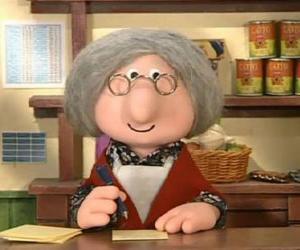 Puzle Sra. Goggins, a agente dos Correios da vila de Greendale