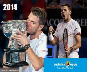 Puzle Stanislas Wawrinka Campeão do Aberto da Austrália 2014