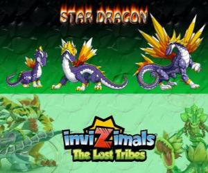 Puzle Star Dragon, última evolução. Invizimals Tribos Perdidas. O mais valioso dragão invizimal