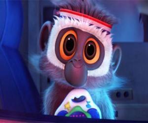 Puzle Steve, o mascote macaco de Flint